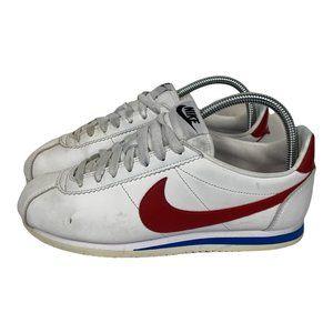Nike Cortez OG Womens Size US8 UK5.5 White Leather Sneakers Lace Logo Retro